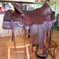 Tucker Elk horn western saddle